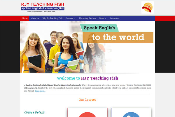 Spoken English Institute Website